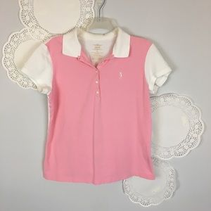 Izod Golf Tennis Polo Pink Shirt Sz Large